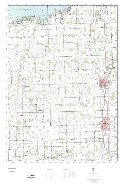 Mytopo New Bremen Ohio Usgs Quad Topo Map
