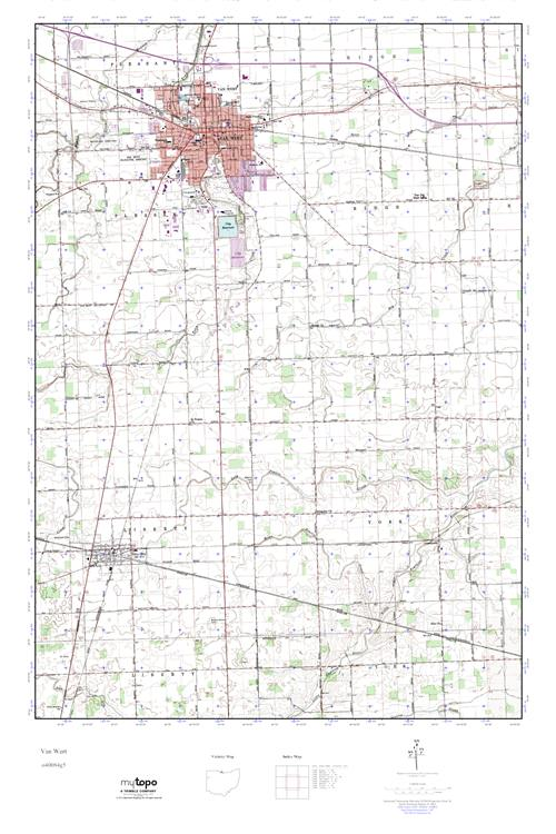 Mytopo Van Wert Ohio Usgs Quad Topo Map