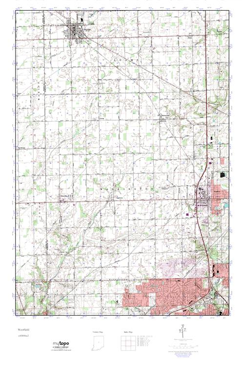 Mytopo Westfield Indiana Usgs Quad Topo Map