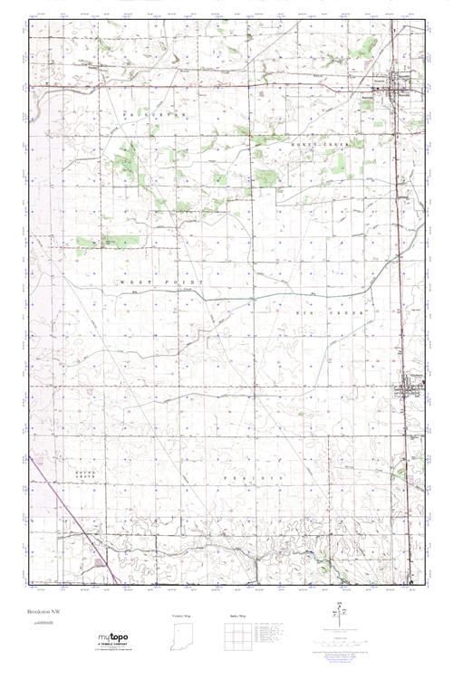 Mytopo Brookston Nw Indiana Usgs Quad Topo Map