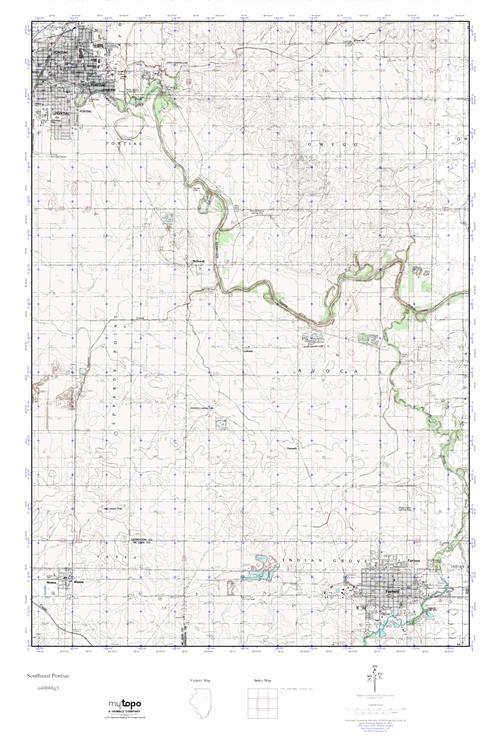 Mytopo Southeast Pontiac Illinois Usgs Quad Topo Map