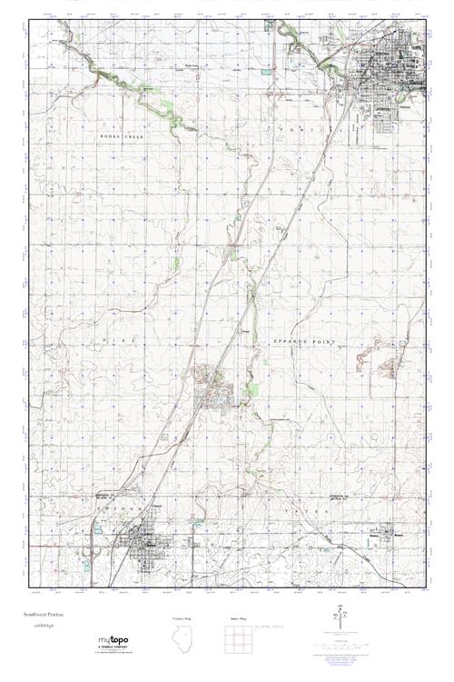 Mytopo Southwest Pontiac Illinois Usgs Quad Topo Map