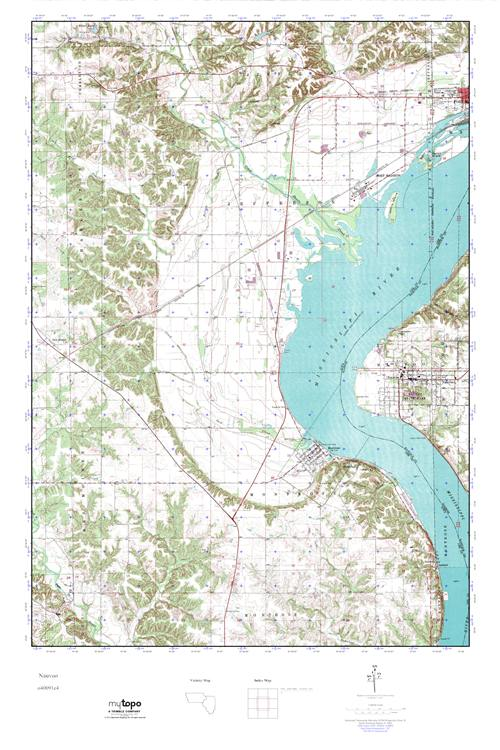 Mytopo Nauvoo Illinois Usgs Quad Topo Map
