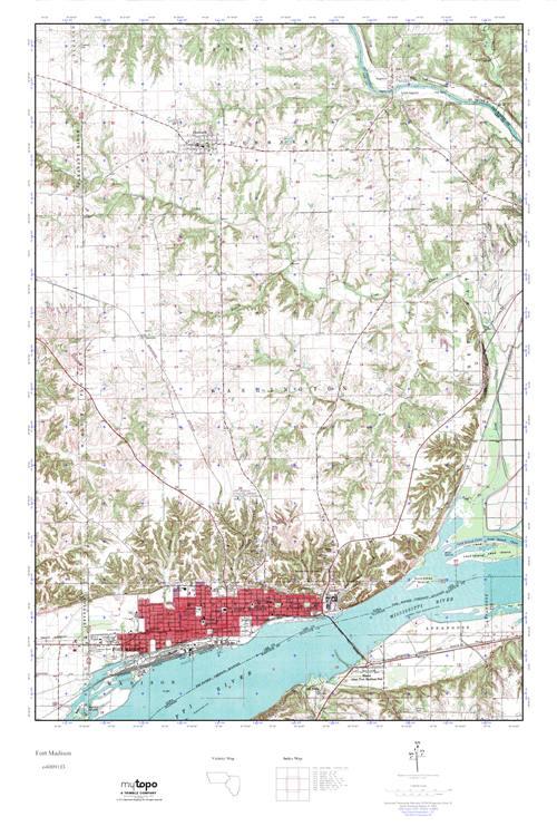 Mytopo Fort Madison Illinois Usgs Quad Topo Map