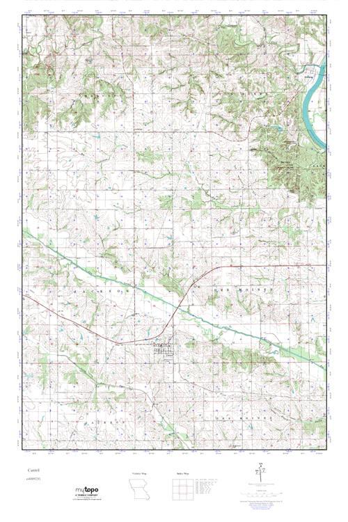 Cantril Iowa Map.Mytopo Cantril Iowa Usgs Quad Topo Map