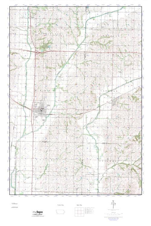 Mytopo Villisca Iowa Usgs Quad Topo Map