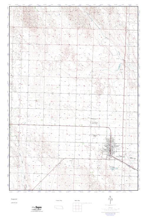Imperial Nebraska Map.Mytopo Imperial Nebraska Usgs Quad Topo Map