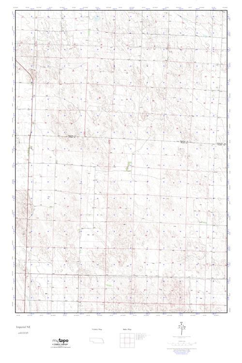 Imperial Nebraska Map.Mytopo Imperial Ne Nebraska Usgs Quad Topo Map