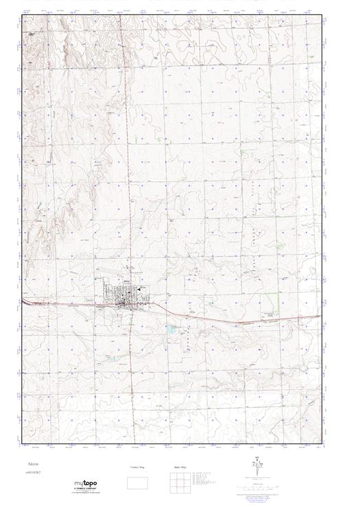 Akron Colorado Map.Mytopo Akron Colorado Usgs Quad Topo Map