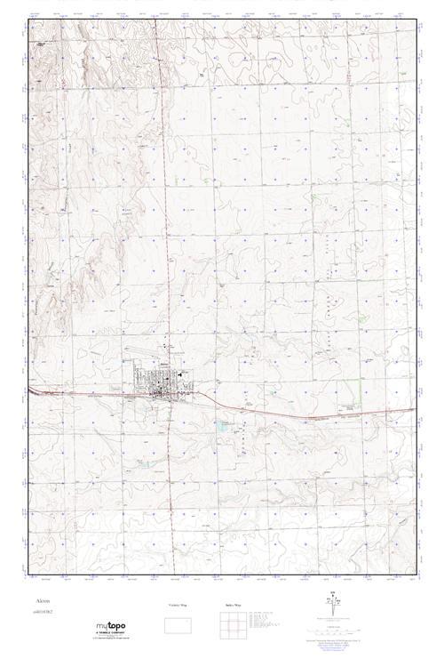 Mytopo Akron Colorado Usgs Quad Topo Map