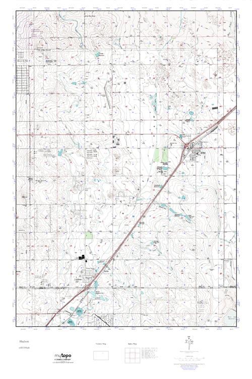 Mytopo Hudson Colorado Usgs Quad Topo Map