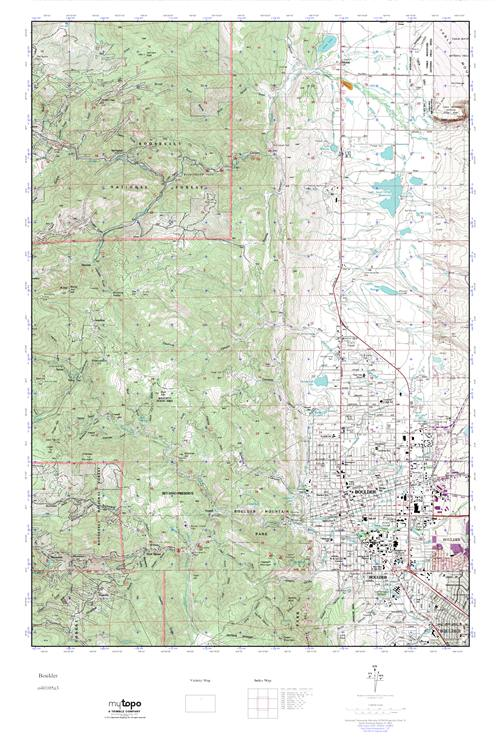 Mytopo Boulder Colorado Usgs Quad Topo Map