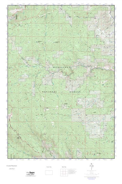 Crystal Colorado Map.Mytopo Crystal Mountain Colorado Usgs Quad Topo Map