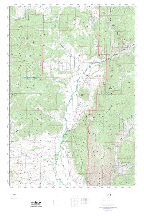 Clark Colorado Map.Mytopo Clark Colorado Usgs Quad Topo Map