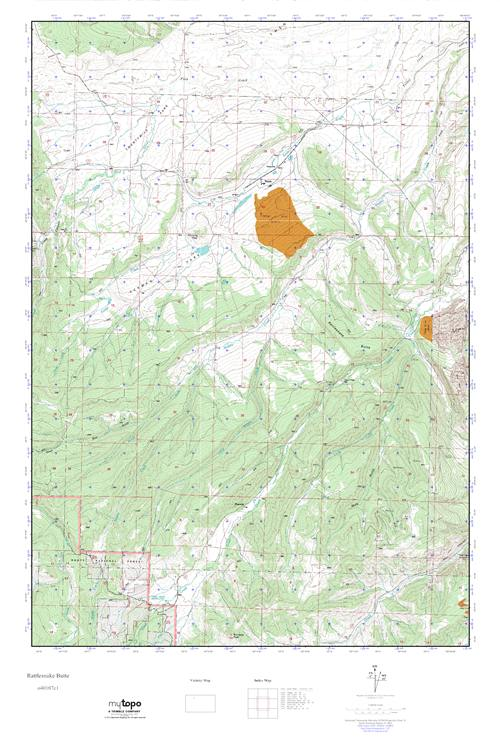 Rattlesnakes In Colorado Map.Mytopo Rattlesnake Butte Colorado Usgs Quad Topo Map