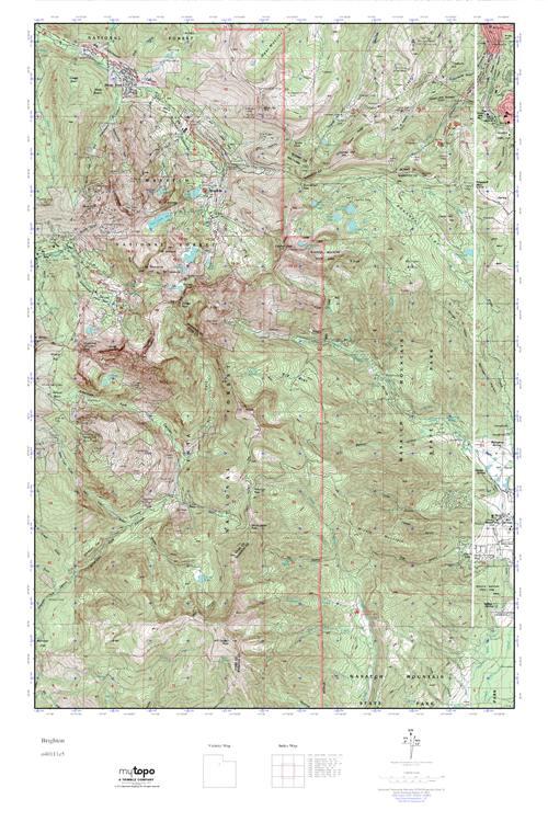 Brighton Utah Map.Mytopo Brighton Utah Usgs Quad Topo Map