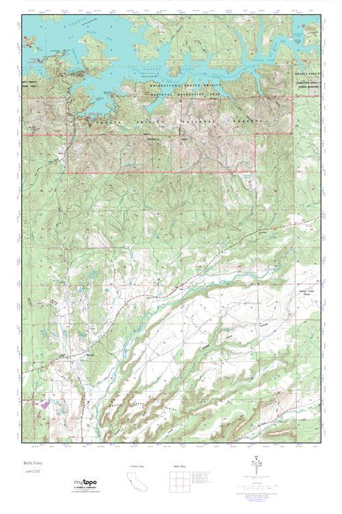Mytopo Bella Vista California Usgs Quad Topo Map