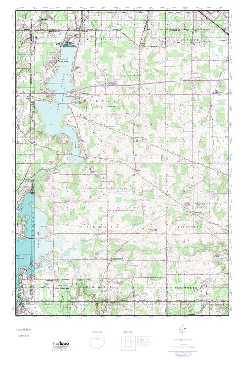 Lake Milton Ohio Map.Mytopo Lake Milton Ohio Usgs Quad Topo Map