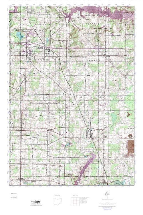 Atwater Ohio Map.Mytopo Atwater Ohio Usgs Quad Topo Map