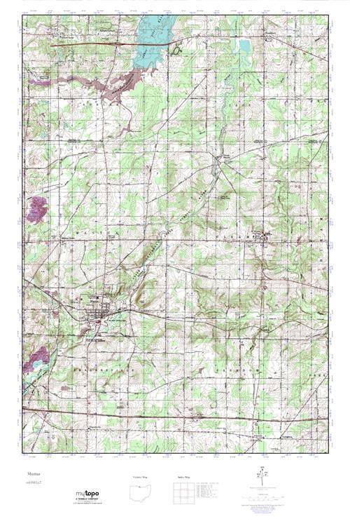 Mytopo Mantua Ohio Usgs Quad Topo Map
