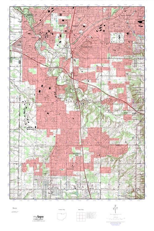 MyTopo Berea, Ohio USGS Quad Topo Map