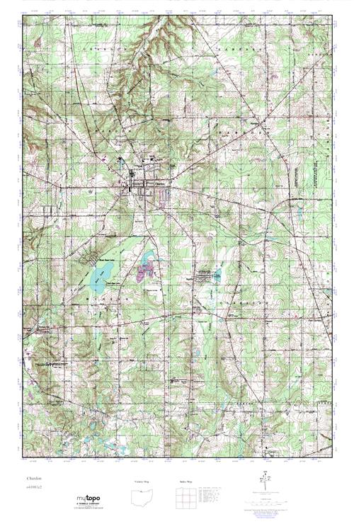 Mytopo Chardon Ohio Usgs Quad Topo Map