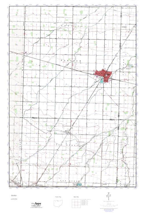 Deshler Ohio Map.Mytopo Deshler Ohio Usgs Quad Topo Map