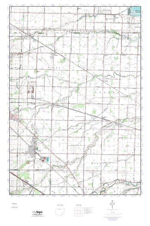 Genoa Ohio Map.Mytopo Genoa Ohio Usgs Quad Topo Map