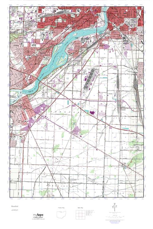 Rossford Ohio Map.Mytopo Rossford Ohio Usgs Quad Topo Map