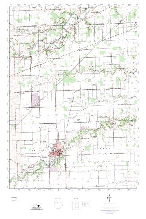 Mytopo Paulding Ohio Usgs Quad Topo Map