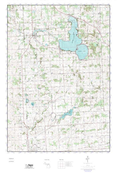 Addison Michigan Map.Mytopo Addison Michigan Usgs Quad Topo Map