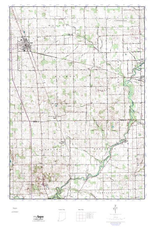 Mytopo Argos Indiana Usgs Quad Topo Map