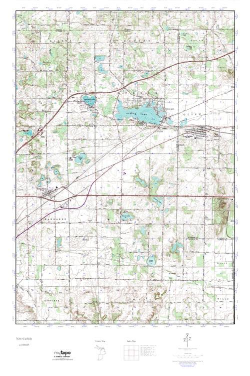 New Carlisle Indiana Map.Mytopo New Carlisle Indiana Usgs Quad Topo Map