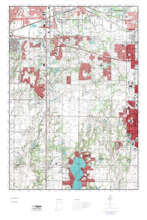 MyTopo Saint John Indiana USGS Quad Topo Map