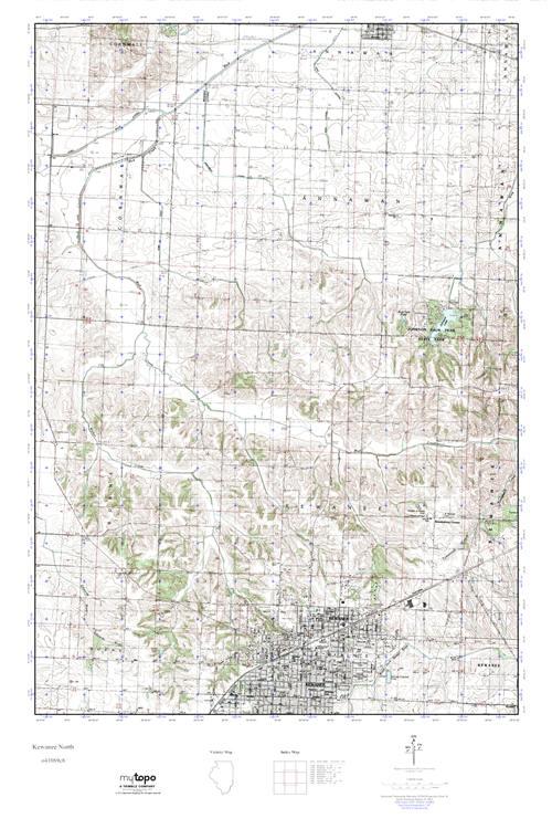 Kewanee Illinois Map.Mytopo Kewanee North Illinois Usgs Quad Topo Map