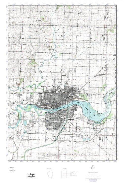 Mytopo Sterling Illinois Usgs Quad Topo Map