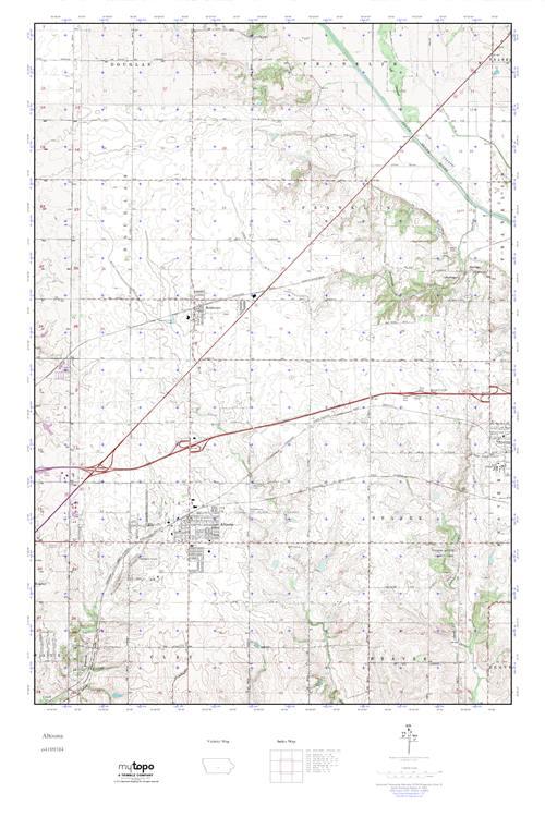 Mytopo Altoona Iowa Usgs Quad Topo Map