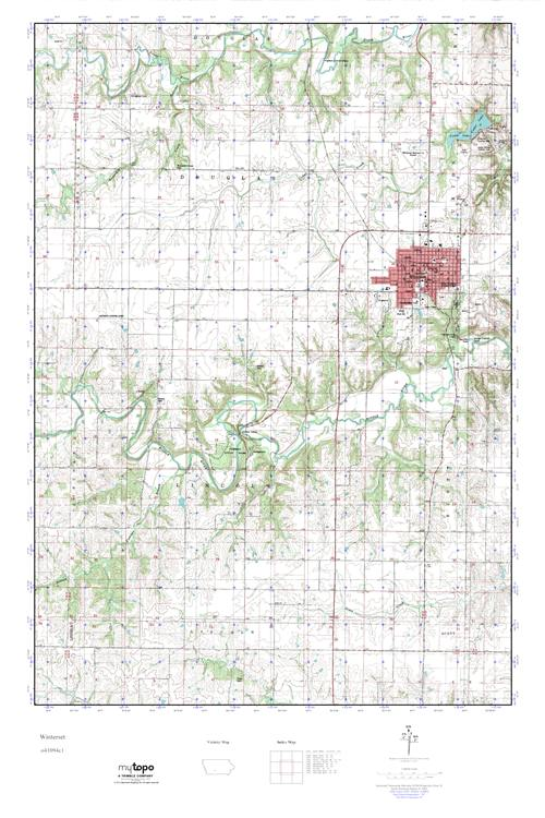 Mytopo Winterset Iowa Usgs Quad Topo Map