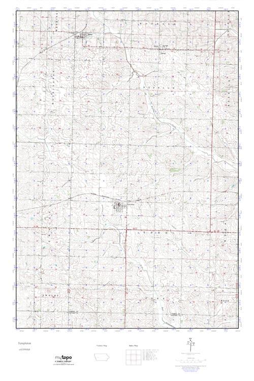 Templeton Iowa Map.Mytopo Templeton Iowa Usgs Quad Topo Map