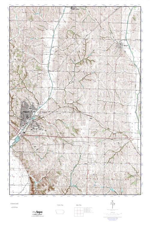 Mytopo Glenwood Iowa Usgs Quad Topo Map