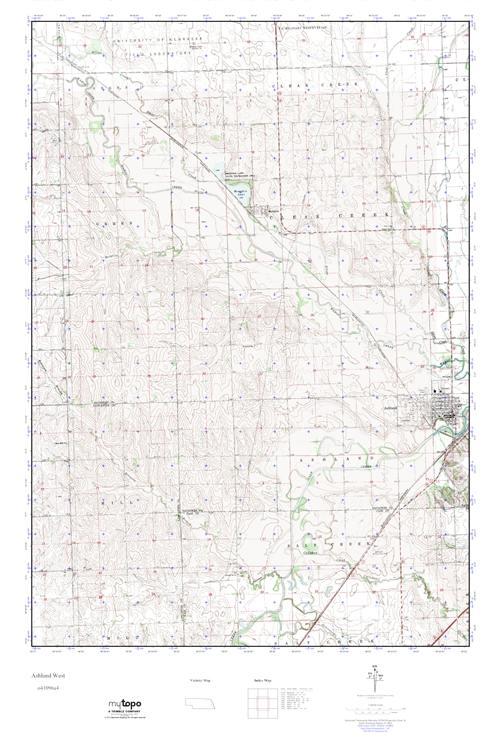 Mytopo Ashland West Nebraska Usgs Quad Topo Map
