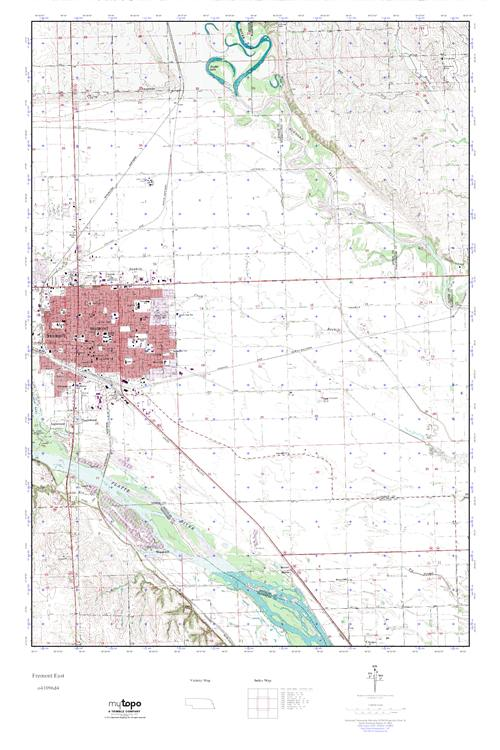 Mytopo Fremont East Nebraska Usgs Quad Topo Map