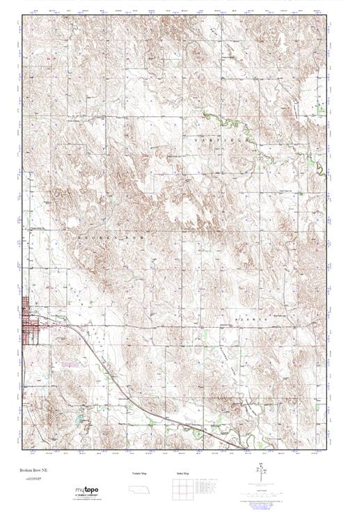 Mytopo Broken Bow Ne Nebraska Usgs Quad Topo Map