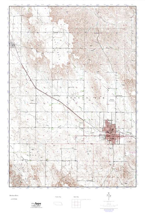 Mytopo Broken Bow Nebraska Usgs Quad Topo Map