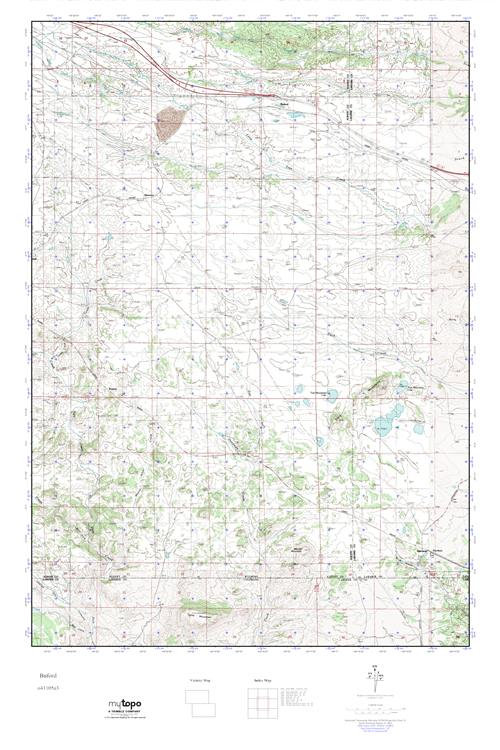 Mytopo Buford Wyoming Usgs Quad Topo Map