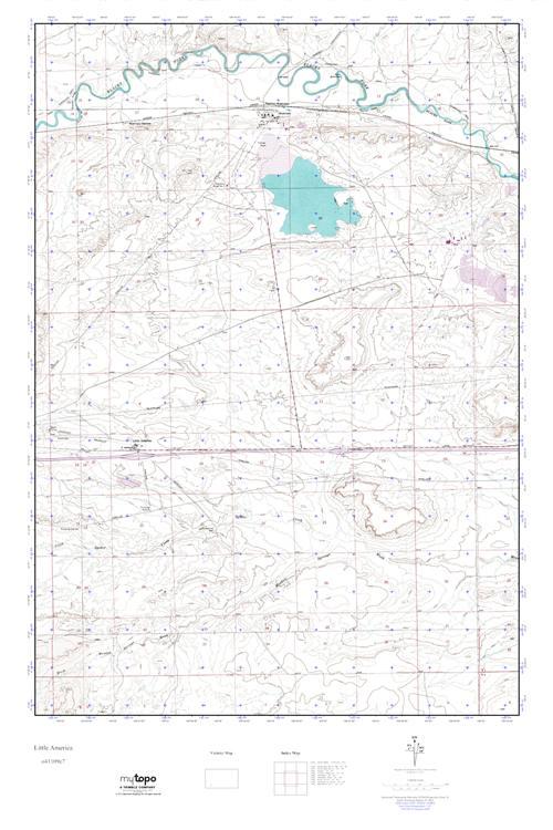 Little America Wyoming Map.Mytopo Little America Wyoming Usgs Quad Topo Map