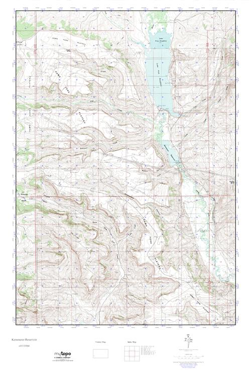 Kemmerer Wyoming Map.Mytopo Kemmerer Reservoir Wyoming Usgs Quad Topo Map