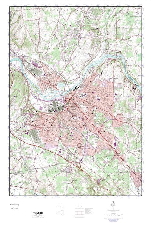 Schenectady New York Map.Mytopo Schenectady New York Usgs Quad Topo Map