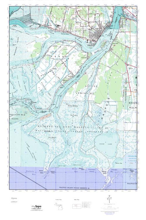 Algonac Michigan Map.Mytopo Algonac Michigan Usgs Quad Topo Map