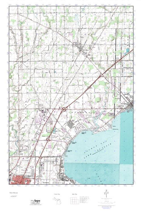 Mytopo New Haven Michigan Usgs Quad Topo Map